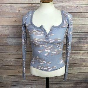 Anthropologie Damsel Henley Shirt Size XS
